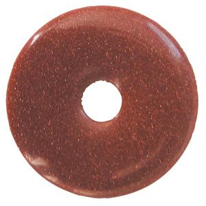 Goldfluss braun Donut Anhänger ca. 30mm