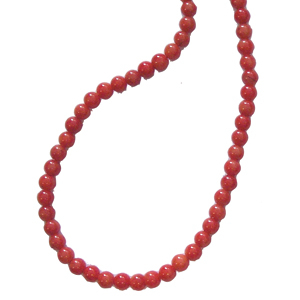 Apfel Koralle Perlen Kette