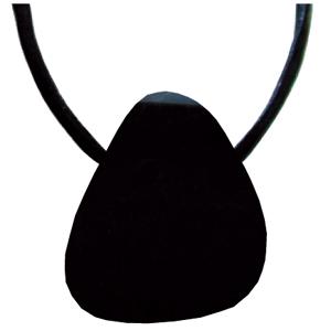 Onyx schwarz Schmeichelstein gebohrt ca. 2-4cm