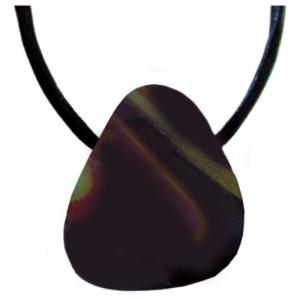 Regenbogenobsidian Schmeichelstein gebohrt ca. 2-4cm