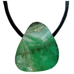 Smaragd Schmeichelstein gebohrt ca. 2-4cm