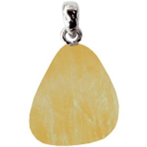 Calcit gelb Anhänger ca. 2-3cm mit Silberöse