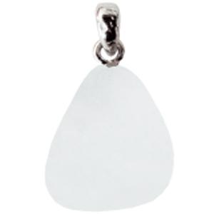 Calcit weiß mit Silberöse