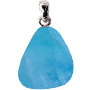Fluorit blau mit Silberöse