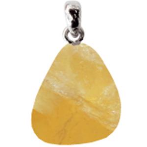 Fluorit gelb mit Silberöse