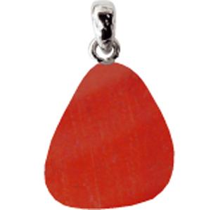 Jaspis rot Anhänger ca. 2-3cm mit Silberöse