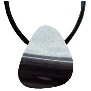 Hämatit Schmeichelstein gebohrt ca. 2-4cm