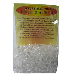 Reinigung (Aufladung) mit Bergkristall