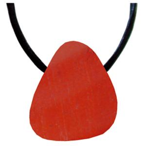 Jaspis rot Schmeichelstein gebohrt ca. 2-4cm