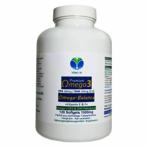 Omega 3 Lachsöl, 120 Softgels a 1000mg