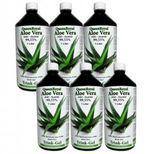 QueenRoyal Aloe Vera Trink Gel 99.55 % pur (6 Liter Sparpack)