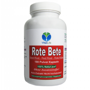 Rote Bete Beete Red Root Rote Rübe 180 Pulver Kapseln