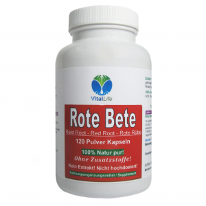 Rote Bete, Rote Beete 120 Pulver Kapseln