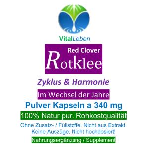 Rotklee Red Clover 720 Pulver Kapseln