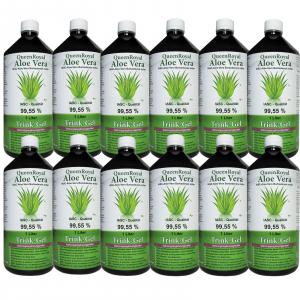QueenRoyal Aloe Vera Trink Gel 99.55 % pur 12 Liter Sparpack