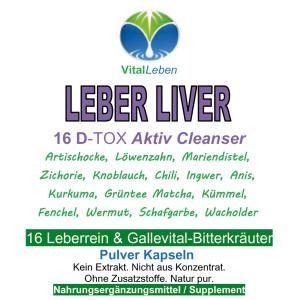 Leber Liver, 720 Pulver Kapseln
