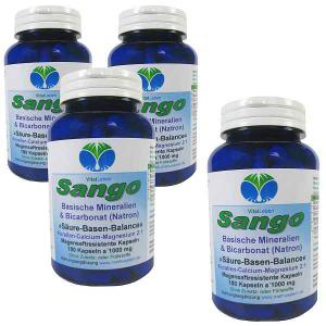 Sango basische Mineralien + Bicarbonat (Natron) 720 Kapseln