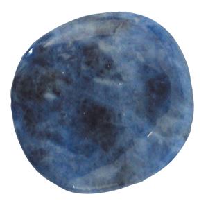 Sodalith Schlaf-Stein mit Täschchen und Beschreibung ca. 3-5cm