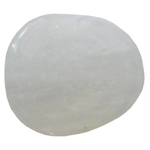 Selenit Schlaf-Stein mit Täschchen und Beschreibung ca. 3-5cm