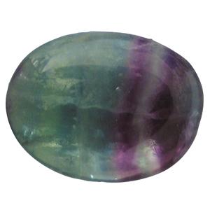 Regenbogenfluorit Schlaf-Stein mit Täschchen und Beschreibung ca. 3-5cm