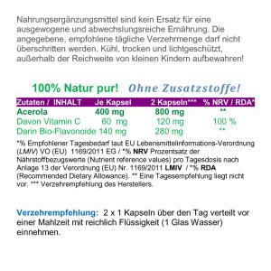 Acerola 120 Pulver Kapseln