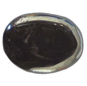 Hämatit Schlaf-Stein mit Täschchen und Beschreibung ca. 3-5cm