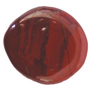Roter Jaspis Schlaf-Stein mit Täschchen und Beschreibung ca. 3-5cm