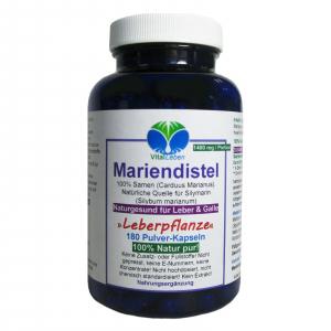 Mariendistel, Früchte/Samen (Carduus Marianus), 180 Pulver Kapseln