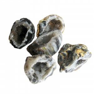 11 teiliges Feengarten Geschenk-Set mit 5 Geoden a 3-3,5 cm
