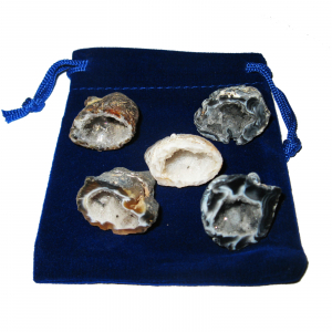 11 teiliges Glücksgeoden Geschenk-Set mit 5 Geoden a 2,5-3 cm