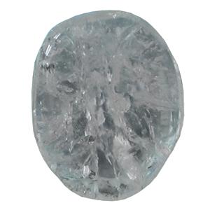 Bergkristall Schlaf-Stein Jumbo mit Täschchen und Beschreibung ca. 6-7cm