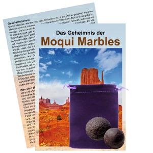 Moqui Marble Lebende Steine Paar mit Zertifikat & Booklet ca. 1,5-2cm