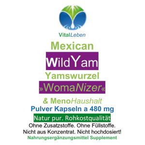 Mexican Wild Yam, Yamswurzel, 720 Pulver Kapseln