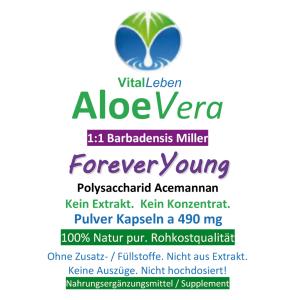Aloe Vera Forever Young 120 Pulver Kapseln