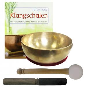 Therapie KLANGSCHALE KLEINE HERZSCHALE 600-700g + BUCH von Peter Hess