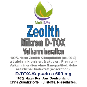 Zeolith MIKRON Vulkanmineralien 300 DETOX-Kapseln