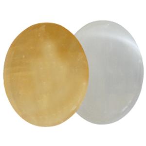 Ayurvedische Massage-Steine Gelber Calcit & Selenit