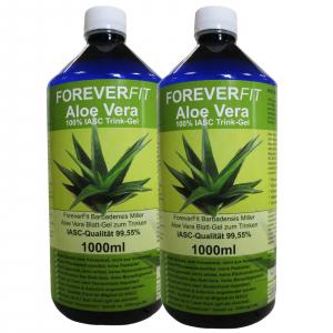 ForeverFit Aloe Vera Trinkgel 2 x 1000ml Flasche