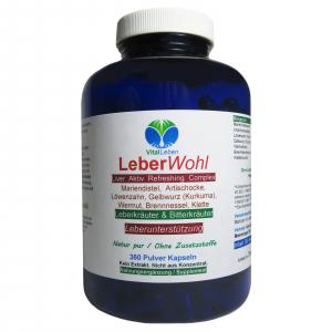 Leber Wohl 7 Leberkräuter & Bitterstoffe 360 Kräuter Kapseln