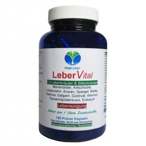 Leber Vital 12 Leberkräuter & Bitterstoffe 180 Kräuter Kapseln