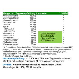 Colon Clean Out 14 Darm Aktiv Kräuter 120 Pulver Kapseln