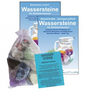 EDELSTEINWASSER DENKEN LERNEN KONZENTRATION 4-tlg SET | WASSERSTEINE 300g
