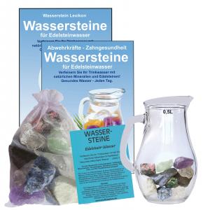 EDELSTEINWASSER DENKEN, LERNEN & KONZENTRATION | WASSERSTEINE + 0,5 Liter Krug