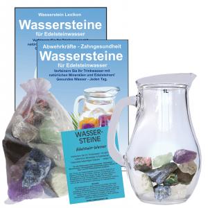 EDELSTEINWASSER DENKEN, LERNEN & KONZENTRATION | WASSERSTEINE + 1,0 Liter Krug