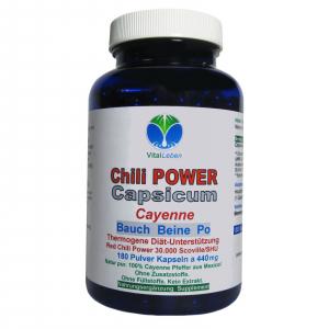Chili POWER CAPSICUM PRO F-BURNER 180 Cayenne Kapseln