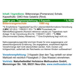 Bitterorange F-Burner & Gallebitter 120 Pulver Kapseln
